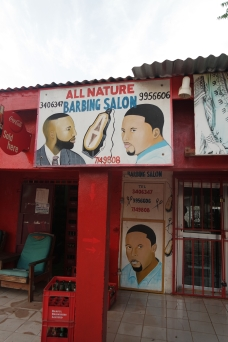 Barber's saloon in Bakau
