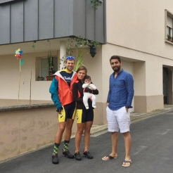 With Hussen and his little girl, Luxembourg